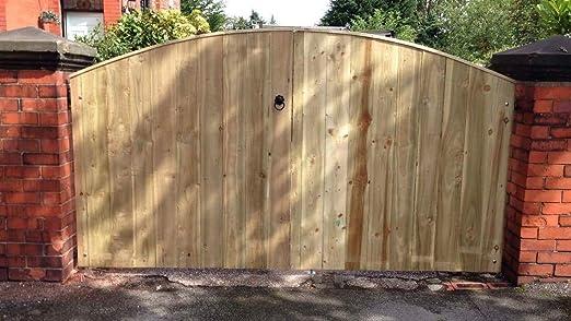 Desconocido Puertas de Entrada de Madera Maciza jardín, tratadas a presión 6FT X 4FT Wide: Amazon.es: Deportes y aire libre