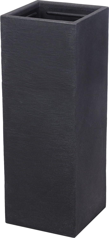 XXL plástico Macetero Maceta Antracita 80cm–Rectangular–Macetero Buzón columna