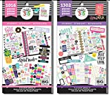 MAMBI Happy Planner Student Back to School - Student Friday YAY and Student Sweet Life - 2 Item Sticker Value Packs Bundle