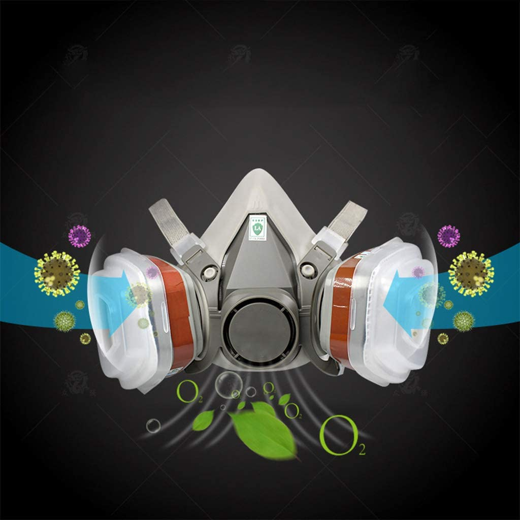 GUSENG 1 Set Full Face Respirator Dust Cover Gas M=as=k for Industrial Refine Mine Spray Chemical Protection