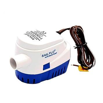 Wisamic Bomba de sentina sumergible automática para barco 12V 1100GPH con interruptor de flotador interno: Amazon.es: Deportes y aire libre