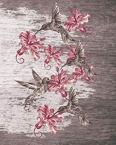 Read Online Sketchbook: Hummingbirds (Pink) 8x10 - BLANK JOURNAL WITH NO LINES - Journal notebook with unlined pages for drawing and writing on blank paper (Birds & Buttterflies Sketchbook Series) ebook