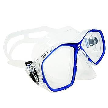 Palantic azul buceo/snorkeling Jr, máscara de buceo con RX lentes graduadas, color