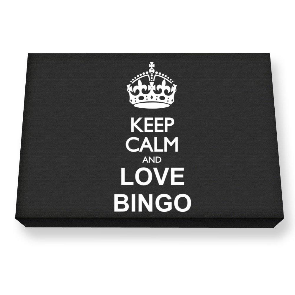 Teeburon Keep calm and love Bingo Canvas Wall Art