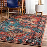 nuLOOM MCGZ12A Multi Distressed Tribal Lavonna Area Rug, 5' x 8', Multicolor