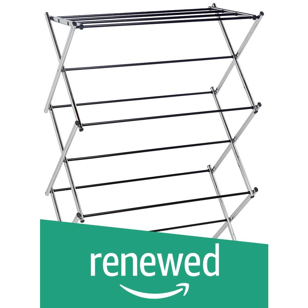 AmazonBasics Foldable Drying Rack - Chrome (Renewed)