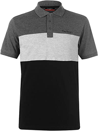 Pierre Cardin Hombre Cut and Sew Camiseta Polo Deportiva