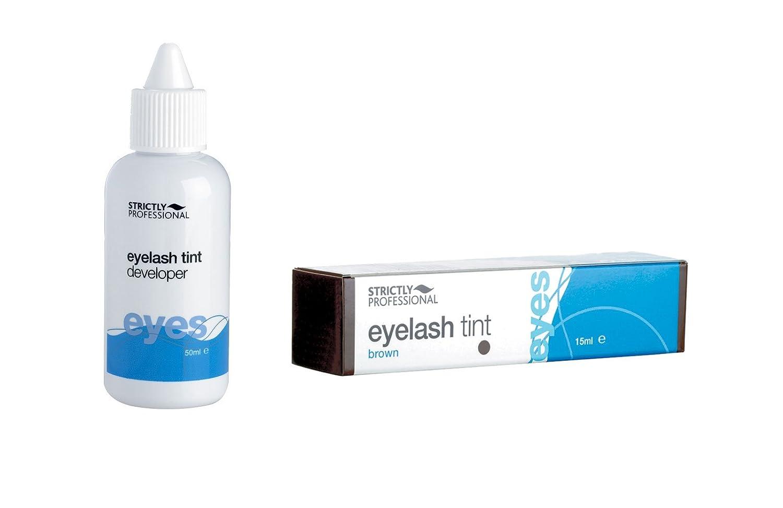 Eyelash / Eyebrow Tint Tinting Dye 2 Piece Kit - Tint & Developer (Black Tint) essentialbeautycare