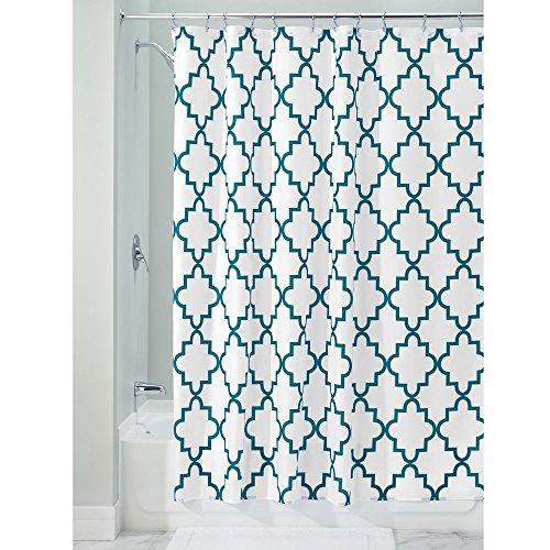 InterDesign Moroccan Trellis Fabric Shower Curtain, 72