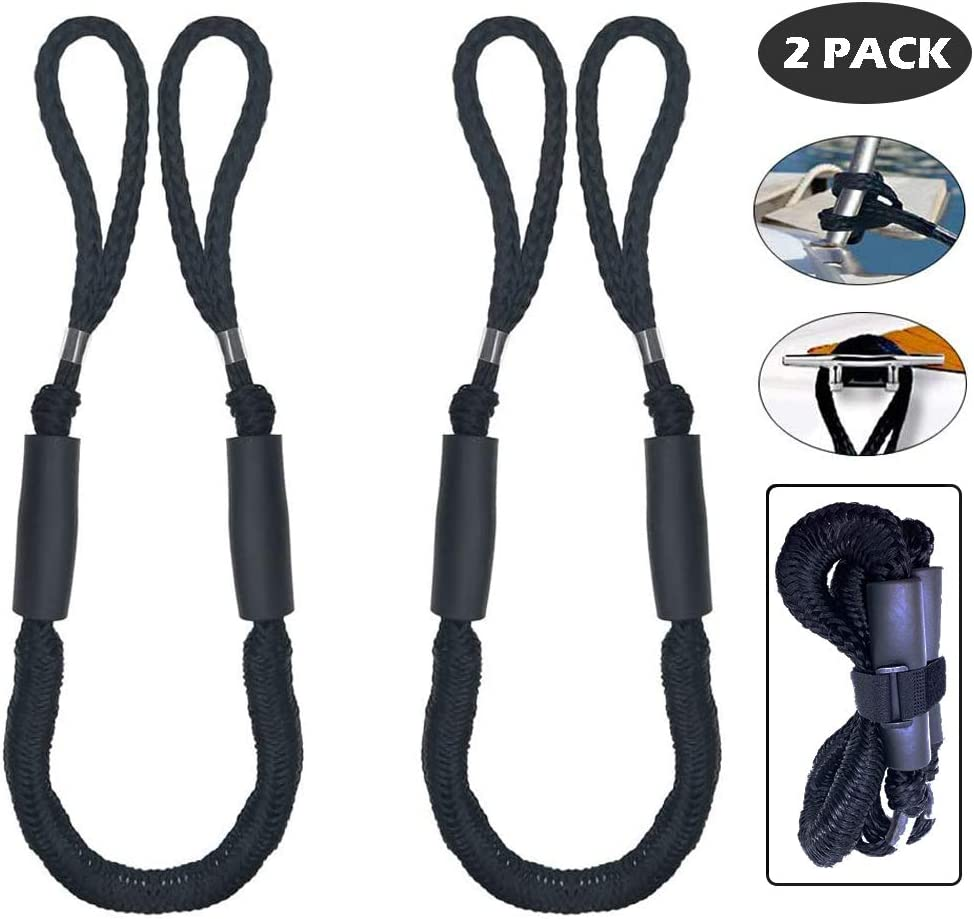 Details about  /2 Pack Boat Dock Line Mooring Rope Accessories for Pwc Built in Snubber