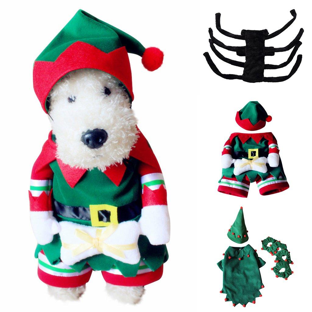 S F Fityle Nuevo Perro De Mascota Ropa De Abrigo Abrigo Cachorro Elfo Ara/ña Navidad Traje Lindo Ara/ña