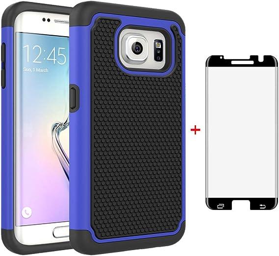 nuovo stile vendita a basso prezzo a prezzi ragionevoli Amazon.com: Phone Case for Samsung Galaxy S7 Edge with Tempered ...