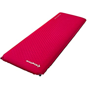 KingCamp Camping Double/Single Sleeping Pad Foam Mat Mattress - Self-Inflating Thick Camp Pad with Carry Bag Suitable for Traveling Hiking Family ...