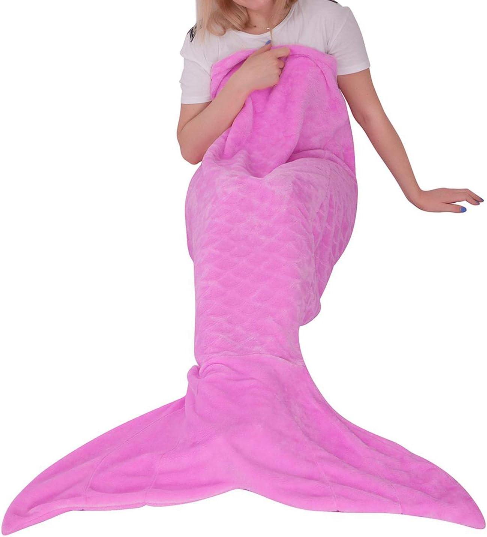 Sirène brillant queue rose Couverture Super Doux Polaire à l/'intérieur paillettes Cadeau