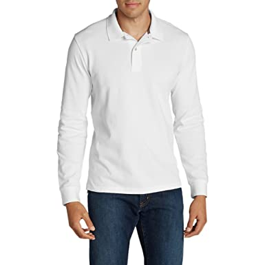 ee9f69afc Image Unavailable. Image not available for. Colour  Eddie Bauer Men s Field  Long-Sleeve Polo Shirt ...