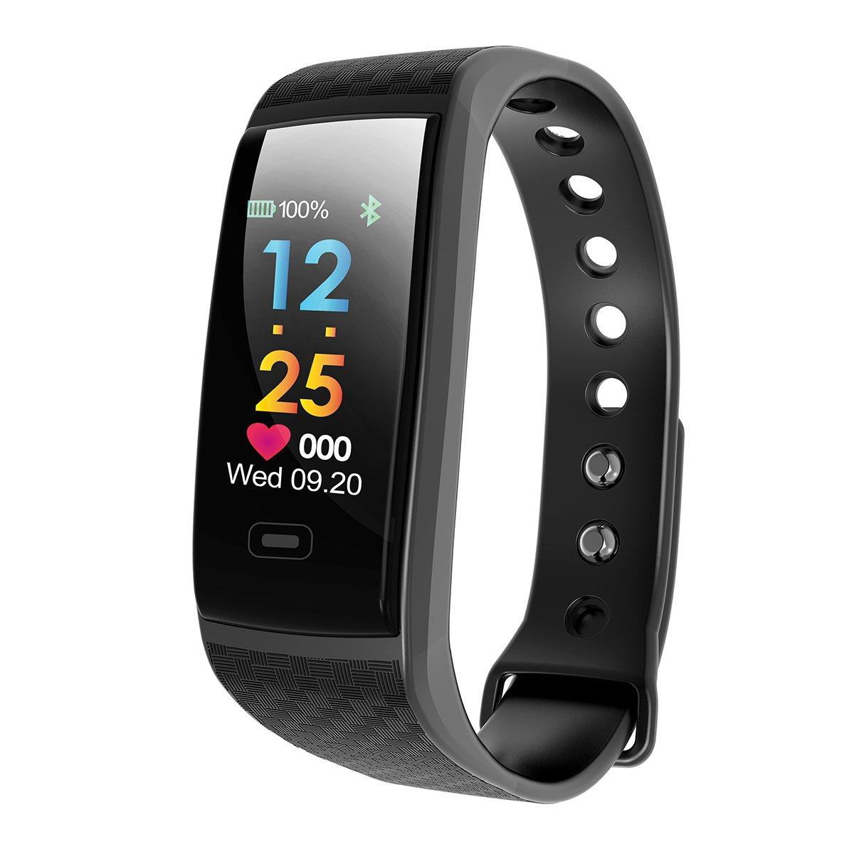 Fitness Tracker Watch, Waterproof Color Screen Activity Tracker Bluetooth Wristband Smart Bracelet with Heart Rate Blood Pressure Calories Pedometer Sleep Monitor Call Reminder for Android IOS Phone