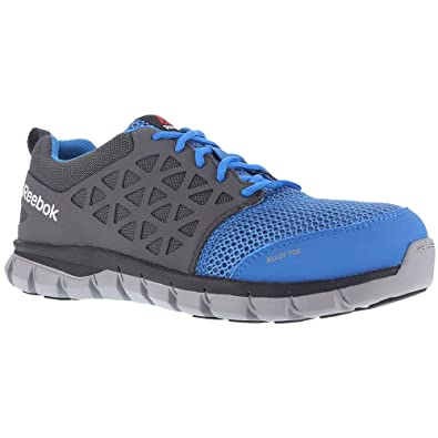 Image Unavailable. Image not available for. Color  Reebok Work Mens Sublite  Cushion Work Work Duty Athletic   Sneakers Blue 2f2e6e6c8