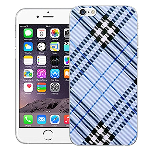 "Mobile Case Mate iPhone 6S 4.7"" Silicone Coque couverture case cover Pare-chocs + STYLET - Blue Oblique pattern (SILICON)"