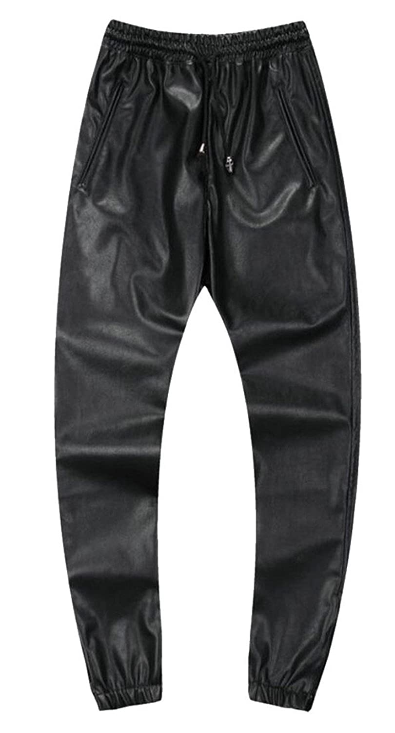 Black GAGA Men Men Men New PU Multi colord Faux Leather Leather Slim Fitted Pant 06b28b