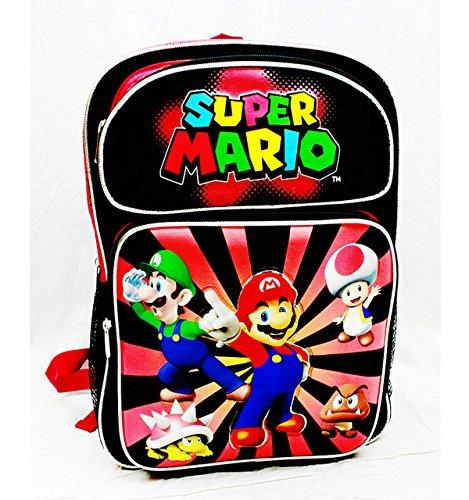 Backpack - Nintendo - Super Mario Black&Red Large School Bag New sd24756   B00SVBW1X4