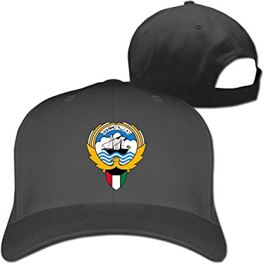 Coat of Arms of Kuwait Fashion Adjustable Cotton Baseball Caps Trucker Driver Hat Outdoor Cap Black