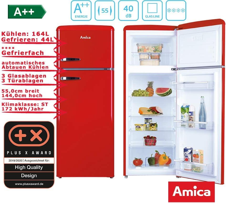 Amica KGC15630R nevera y congelador Independiente Rojo A++ ...