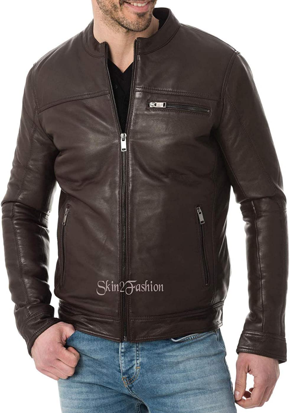 Skin2Fashion Mens Leather Jackets 496