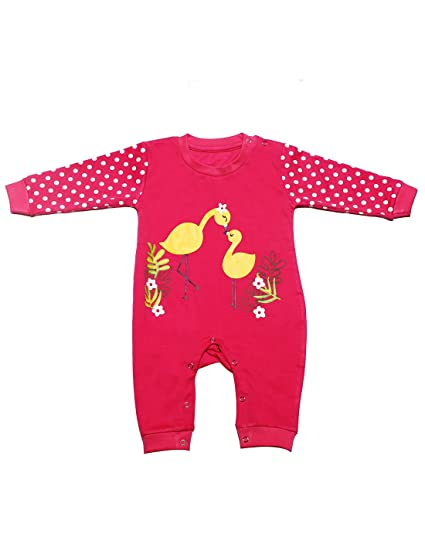 9db11e7e9 Babeezworld Baby Full Sleeve Diaper Friendly Printed Cotton Romper ...