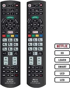 Alkia PN-1LC - Mando a distancia universal luminoso para Panasonic Viera TV, VIERA Link/LEARN/3D/LCD/LED/HDTV, funciona con todos los televisores Panasonic LED/LCD (brilla en la oscuridad): Amazon.es: Electrónica