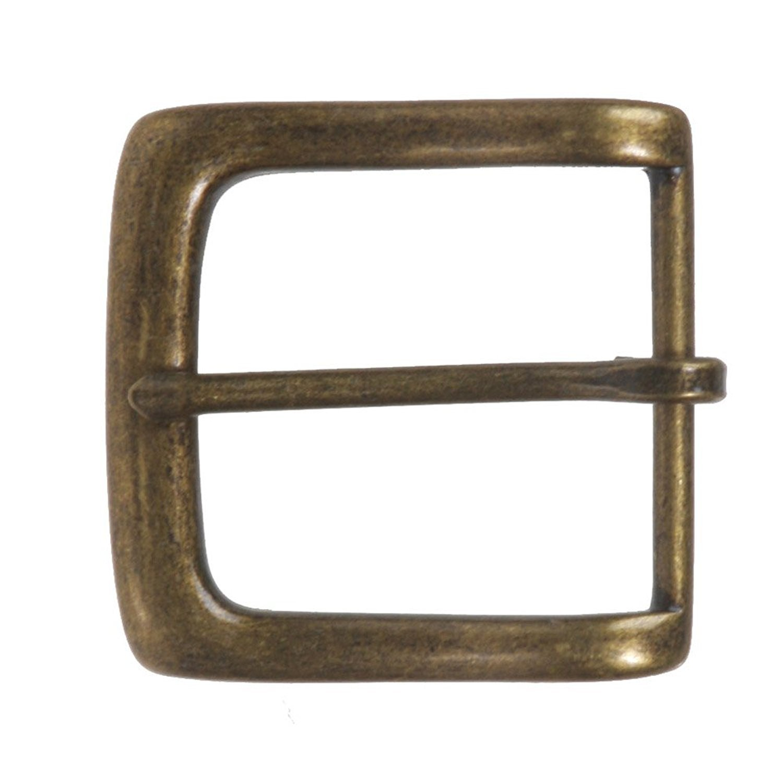 BBBelts Men Antique Brass Zinc Alloy Single Prong Square Buckle For 1-1//2 Belts