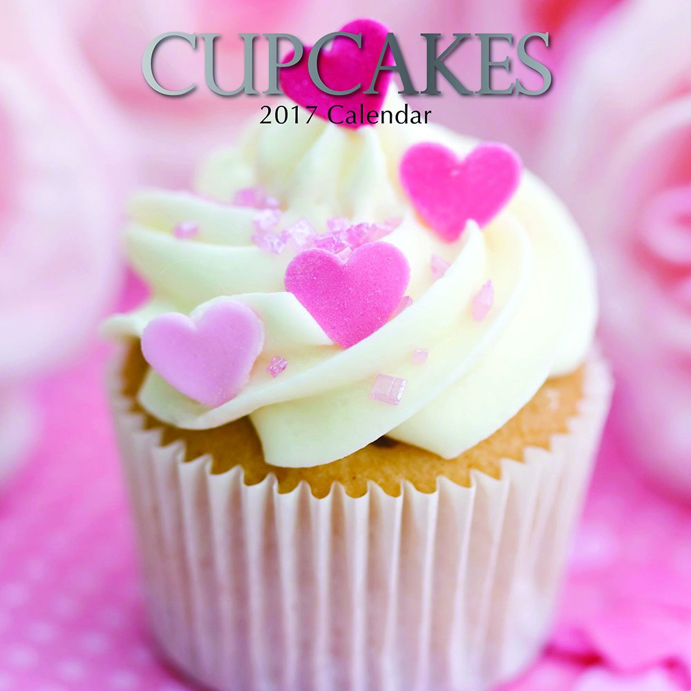 2017 Monthly Wall Calendar - Cupcakes
