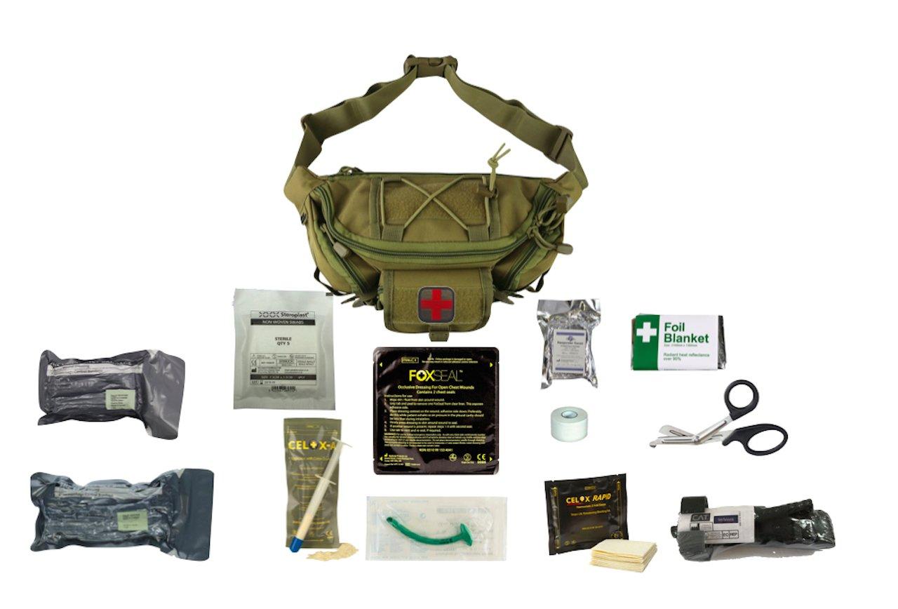 Tactical Waist Bag - Coyote Trauma Kit