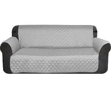 Sobotoo Funda de sofá Impermeable, Reversible, 2 plazas, Protector de sofá Antideslizante,