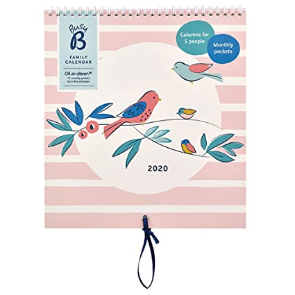 Calendario familiar 2020 Busy B - estampado pájaros, con ...