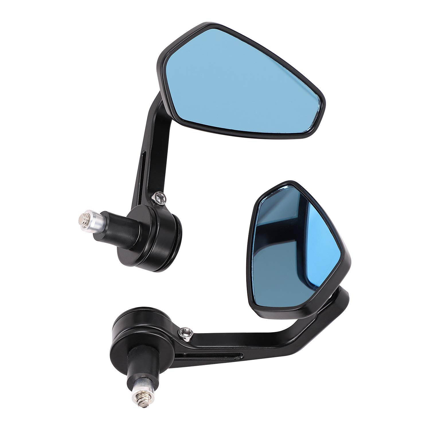One Pair Motorbike Mirror 7//8 Rhombus Rear View Rearview Side Mirrors Universal Motorcycle Wing Mirrors Wide Angle Handebar Bar End Side Mirror Safety Reflector Mirror Rearview Mirror Day-Night