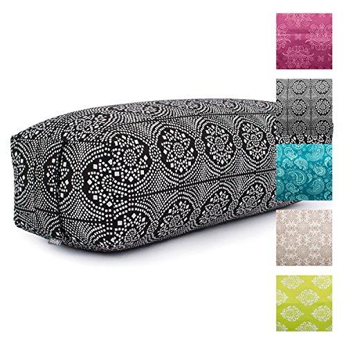 Yoga Bolster salamba, rectangulaire, Housse amovible en coton, rembourrage en épeautre, yoga Accessoires pour Reste orative asanas et Yin et le yoga