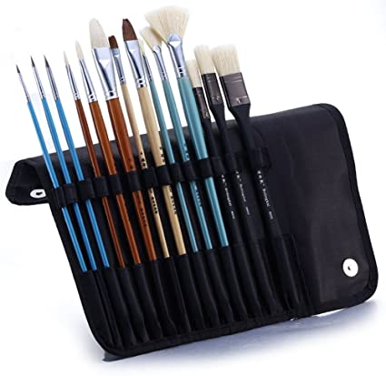 Amazon Com 14 Pcs Pig Hair Quality Detail Paint Brush Set