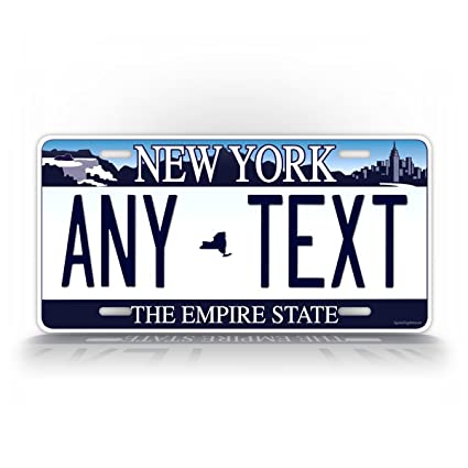 Car & Truck Parts Personalized Custom New York State License Plate Any Name Novelty Auto Car Tag Ebay Motors