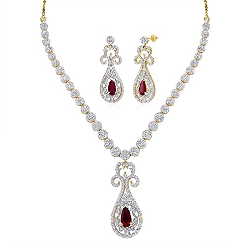 Peora Gold-Plated Choker For Women Gold-PN298GJ Women's Jewellery Sets at amazon
