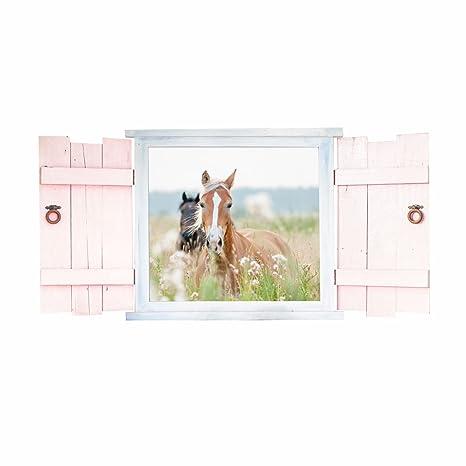 023 Wandtattoo Pferde im Fenster mit Fensterläden - in 6 ...