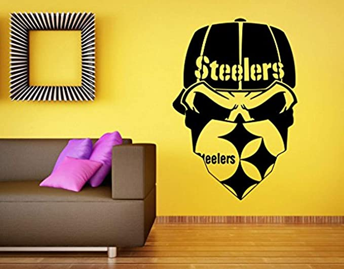 Set of 4 Pieces Pittsburgh City Steeler Football Logo Die-Cut Decal Sticker 5 Longer Side