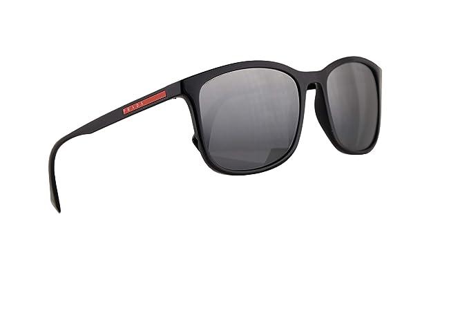 Prada PS01TS gafas de sol w/luz polarizada Gris Espejo plata ...
