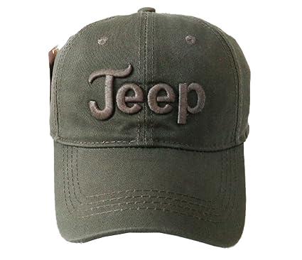 ce0c43ba561a7 Jeep Unisex Solid Color Adjustable Cutton Baseball Cap Outdoor Sunhat