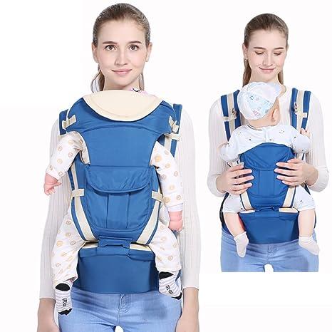 Mochila portabebé,Completo temporadas Taburete de cintura Intercambiable Multifunción Mochila fular ergonómica Frente-hold
