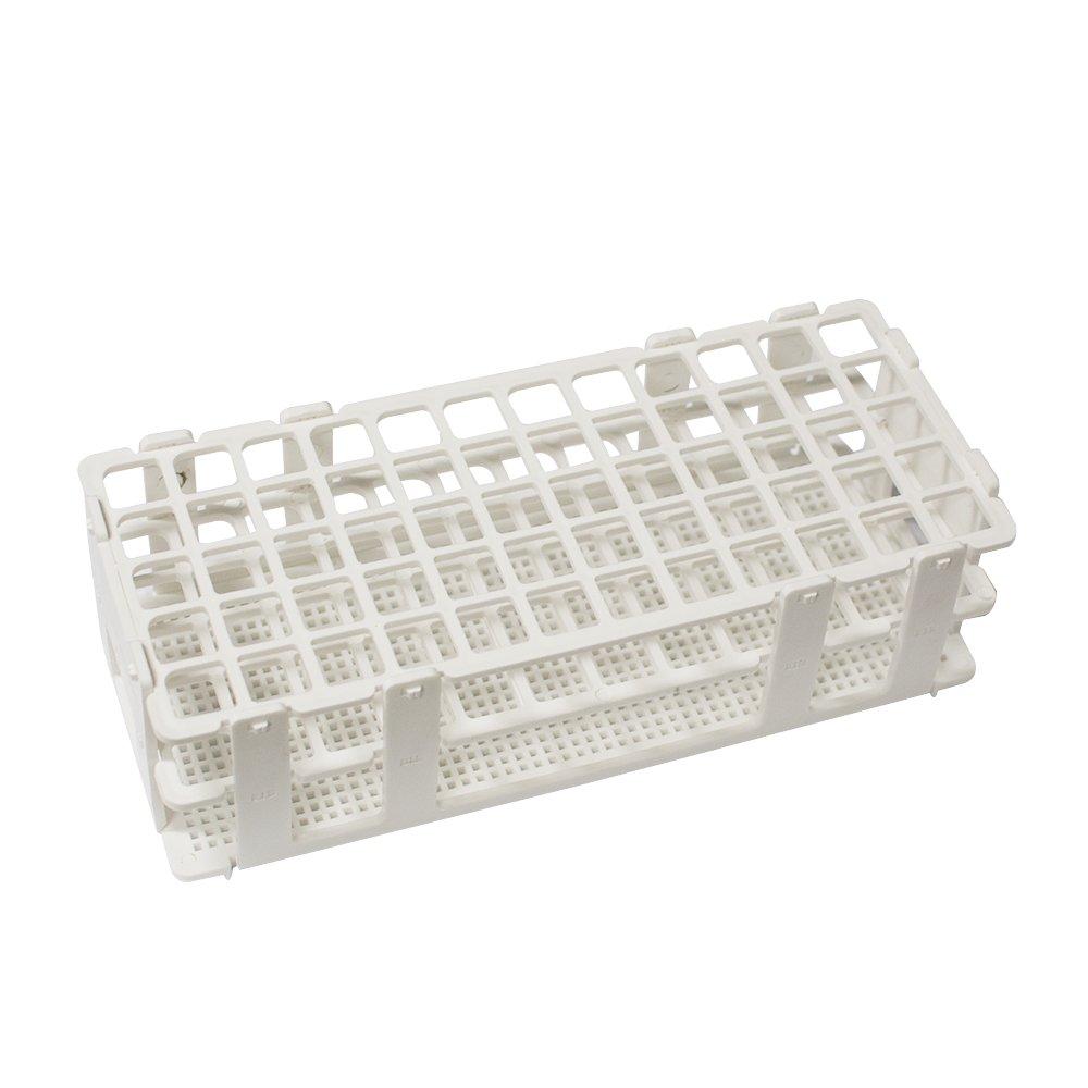 Funwill, vassoio porta-provette con 60 fori, 17 mm, 3 strati di plastica, per laboratorio