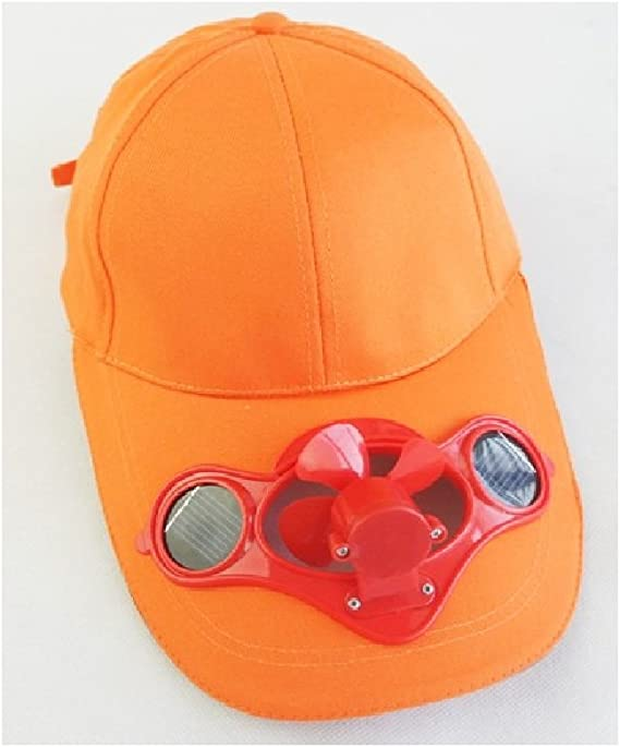 JXY - Gorra de béisbol con ventilador alimentado mediante paneles ...