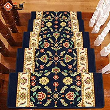 Uxjam High Definition Pattern European Style Staircase Pad Non Adhesive  Self Absorption