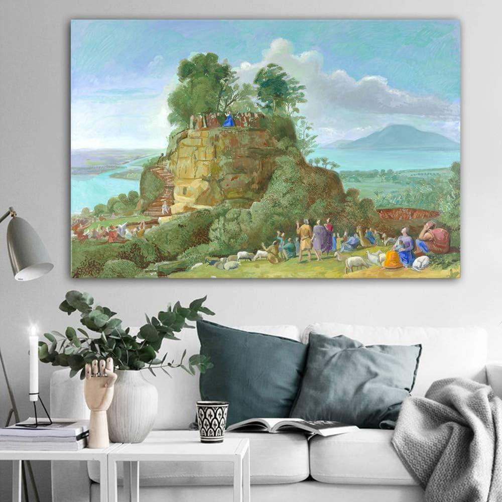 LKJHGU Sin Marco Póster de impresión de Lienzo David Hockney Claude en Piedra Paisaje Arte Piscina Retrato Imagen de Pared para Sala de Estar Decoración de la Piscina del hogar