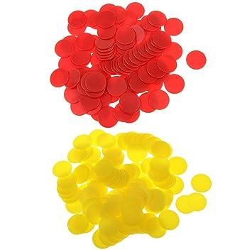 Confezione da 200 gettoni in plastica per giochi Gioco Chip Kids Numeracy