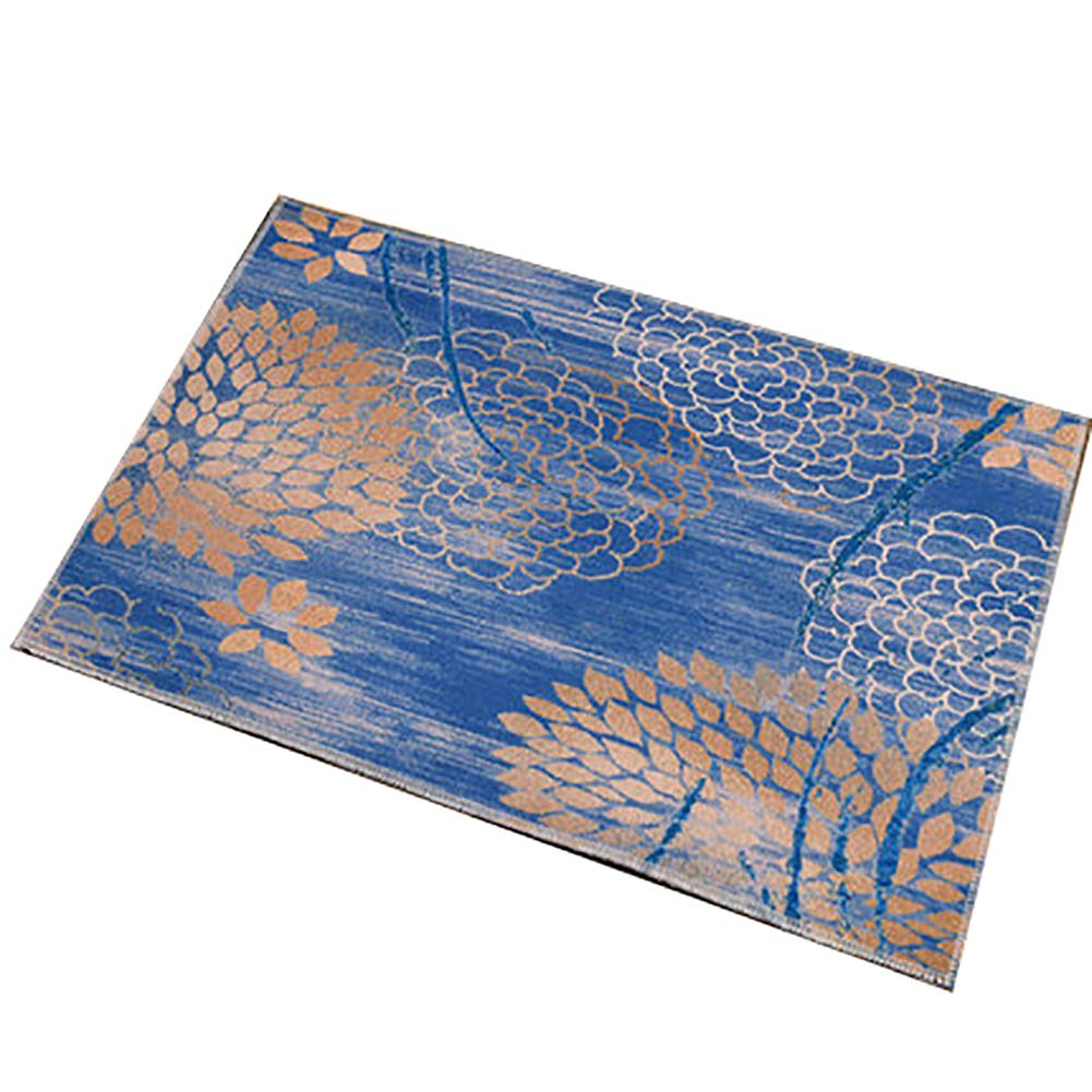 bluee 80X120cm(31x47inch) Door mat,Rug Entrance Door mats Bathroom Non Slip Door mat Front Door Rug Carpet Door mat Home Decorative-bluee 80X120cm(31x47inch)